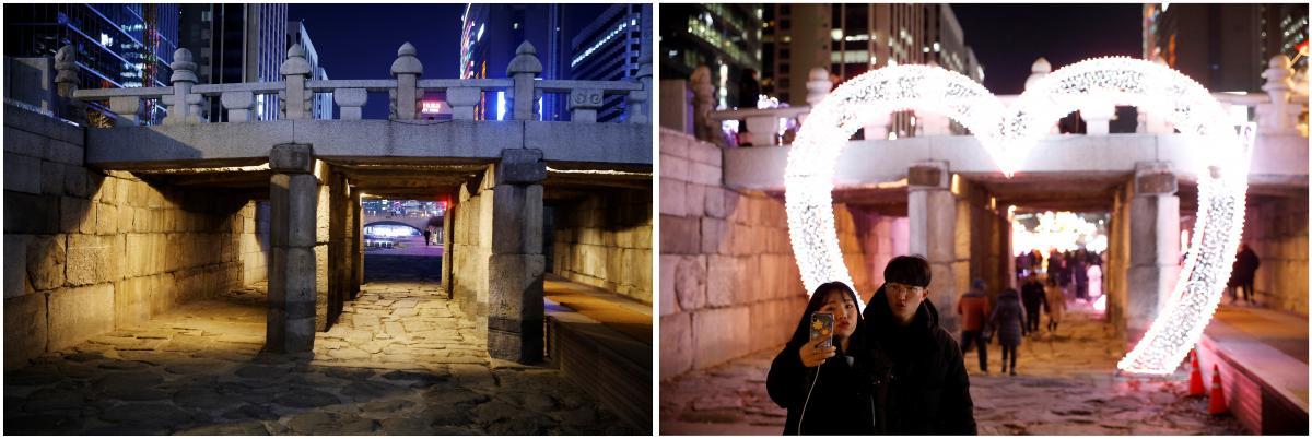 Сеул в канун Нового года в 2020и 2019годах / фото REUTERS16