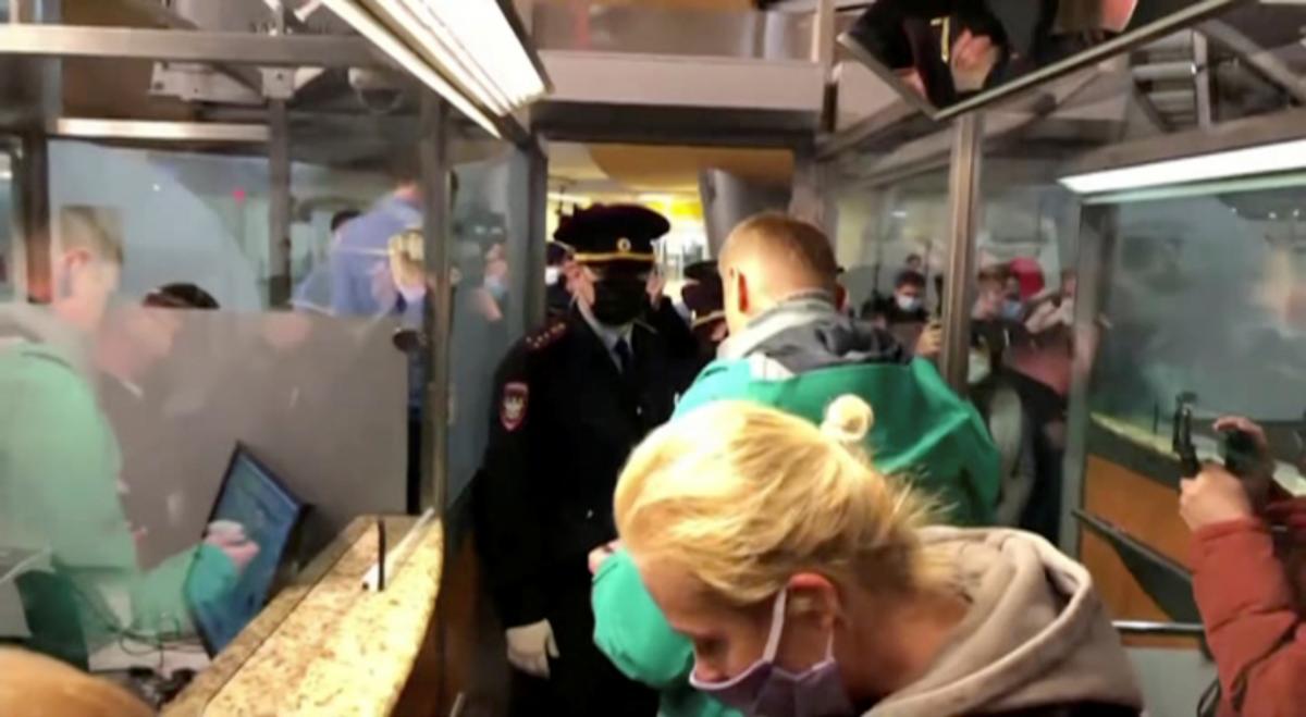 Навального задержали в Москве / фото REUTERS1