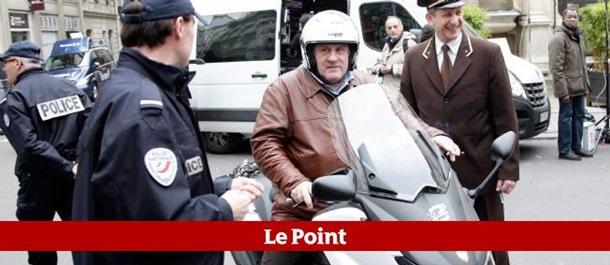Полицейские конфисковали скутер у Жерара Депардье  1