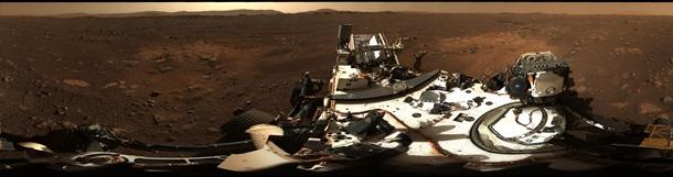 NASA показало панорамный снимок Марса 1